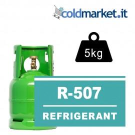 R507 bombola gas refrigerante 5kg