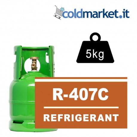 R407C bombola gas refrigerante 5kg