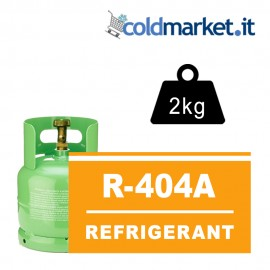 R404A bombola gas refrigerante 2kg