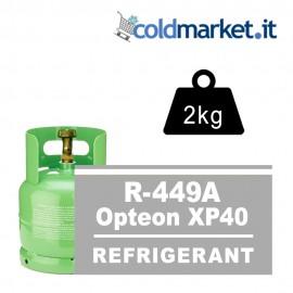R449A Opteon XP40 bombola gas refrigerante 2kg