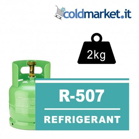 R507 bombola gas refrigerante 2kg