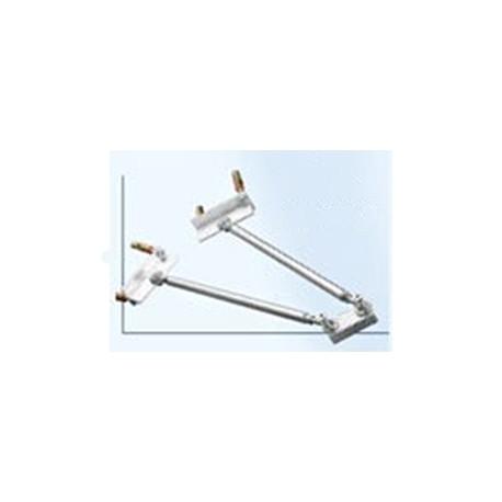 Sistema antioscillazione doppio per staffa pendente